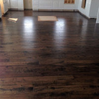 Installation of new hardwood floors
