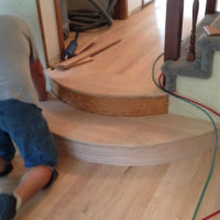 Wood floor installation in Blue Earth, Minnesota