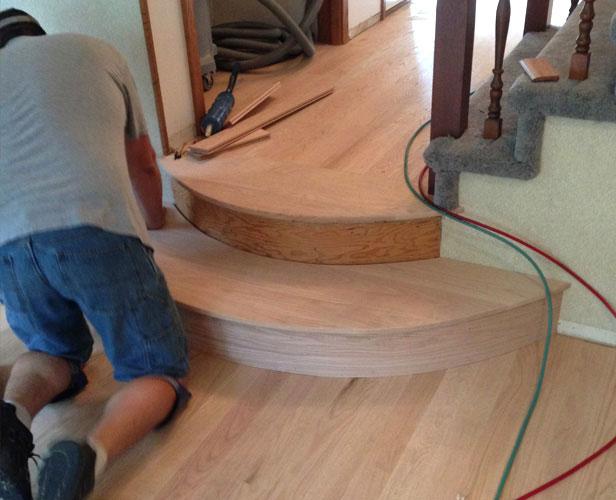 Wood floor installation in Blue Earth, Minnesota